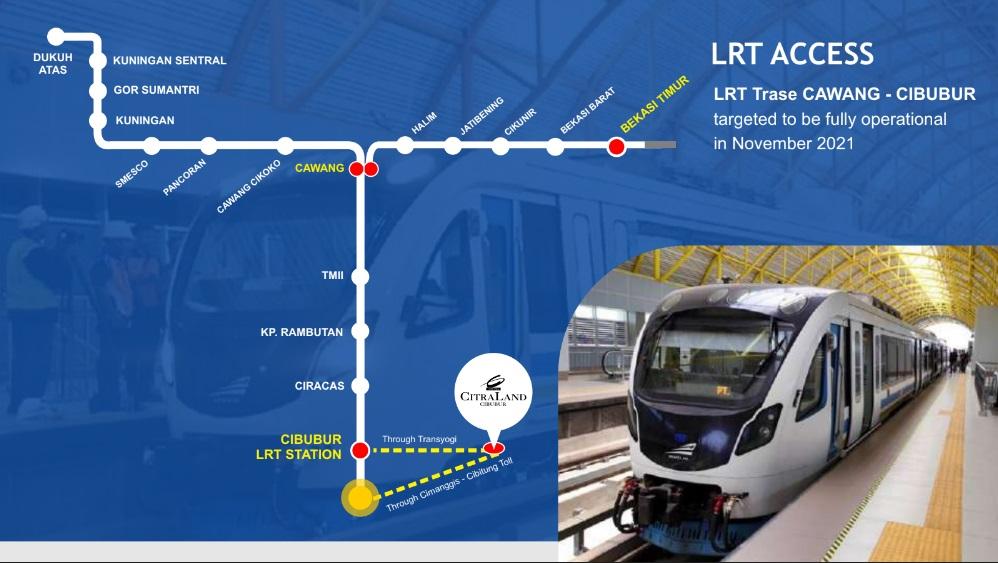 CitraLand Cibubur Akses LRT
